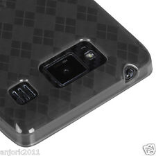 Motorola Droid Razr Maxx HD Candy Skin Gel Cover Soft Case Smoke Checker