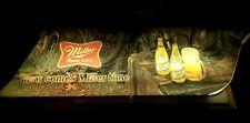 """LARGE VINTAGE MILLER HIGH LIFE LIGHTED BEER 64"""" X 15"""" SIGN NOW COMES MILLER TIME"""