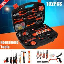 102PCS Tool Kit Box Home Car Household Repair Metric Spanner Mechanic Sets AU