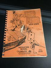 """Original Gottlieb """"Joker Poker"""" Pinball Machine Manual"""