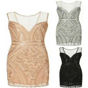 1920s Sexy Fancy Sequin Dress Beaded Popular Womens Party Evening Flapper Dress