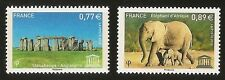 FRANCE 2012 - Timbres de Service UNESCO n° 154 et 155 NEUFS** LUXE MNH