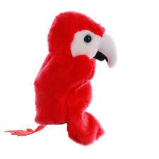 Cute Cartoon Red Parrot Doll Kids Glove Puppet Soft Plush Finger Toys Gifts GA