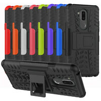For LG G7 ThinQ Case Hybrid Armor Dual Layer Shockproof Kickstand Phone Cover