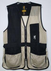 Browning Trap Shooting Hunting Mesh Zip Vest Men's Medium Recoil Insert Straps