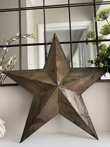 Large Antique style Wooden Star 59cm barn star style country farm shabby chic