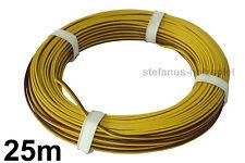 25m Litze 2-adrig   gelb/braun 0,14 mm² Kabel für Modellbahn 0,36 €/m NEU
