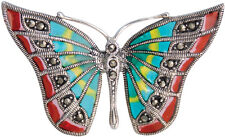 BUTTERFLY RING WITH ENAMEL 925 STERLING SILVER HALLMARKED NEW FROM ARI D NORMAN