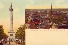 TRENTON NJ FROM TOP OF BATTLE MONUMENT 1914 pub by Stoll Blank Book & Stationary