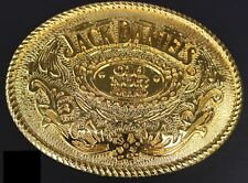 "Jack Daniels Gold color Old No.7 Belt Buckle Western Cowbow 4 X 3 1/8 "" USA"