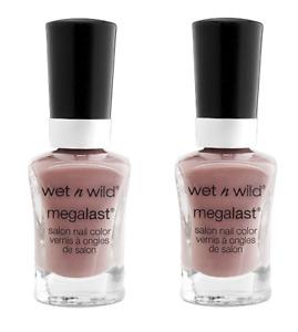 Wet N Wild Nail Polish WET CONCRETE Set of 2 Gray/Neutral Purple