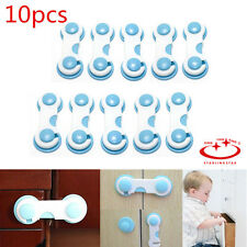 10Pcs Child Infant Baby Toddler Safety Fridge Drawer Door Cabinet Cupboard Locks