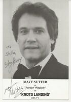Personalized autograph of Mayf Nutter, country singer and TV celebrity