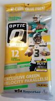 ✅🏈🔥2020 Donruss Optic Football Cello Pack- Green Velocity-New Sealed