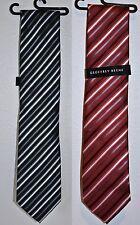 Geoffrey Beene Men's Necktie Tie Titanium Stripe Red or Black
