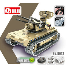 Radio Control RC Model Builder mattoni KIT 457PCS Esercito BATTLE TANK 2 in 1 Robot