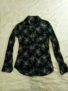 D&G Dolce&Gabana long sleeves floral print casual cotton shirt Made in Italy