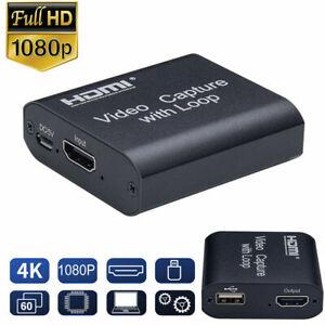 1080P 4K HDMI Videoaufnahme Video Capture Grabber Recorder USB Tragbar Adapter