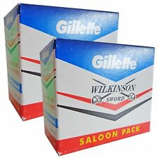 50 X Blades Saloon GILLETTE WILKINSON SWORD RAZOR double edge safety razor