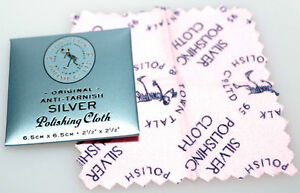 Town Talk Silver Jewellery Cleaning & Polishing Cloth Brand New