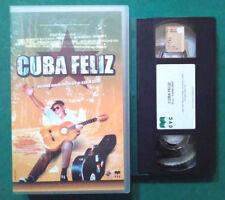 VHS FILM Ita CUBA FELIZ karim dridi miguel del morales ex nolo no dvd cd(VH87)