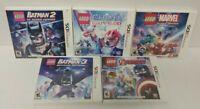 LEGO Chima, Marvel Heroes Batman 2 + 3, Avengers Nintendo DS DS Lite 3DS 2DS Lot