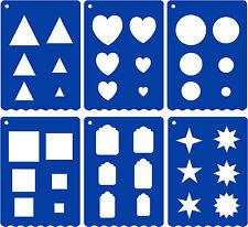 6 Stencil Shapes A4