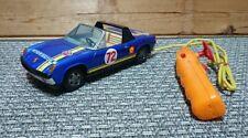 DAIYA Japan VW Porsche 914 Blau Rallye Weißblech/Electric 1:18 60-70 Jahre