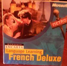 "MICROSOFT  ENCARTA LANGUAGE LEARNING  ""FRENCH DELUXE"""