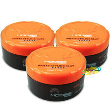 3x MooseHead Gritty Styling Clay 100g Beeswax Strong Hold Chunky Looks