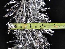 36 Feet Christmas Tree Garland Tinsel Textured Silver