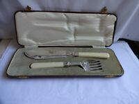 Vintage Silver Plated EPNS Fish Servers Richard Atkinson, Sheffield, Cased