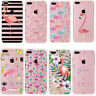 Cute Flamingo Clear Painted Soft TPU Phone Case Cover For iPhone SE 5 6 7 PLUS