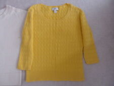 Ann Taylor LOFT/ Eddie Bauer Sweater Top S M XL Brown  Cream/White Yellow