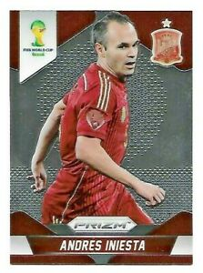 Andres Iniesta Spain 2014 Panini Prizm World Cup Soccer Card# 177