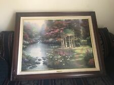 "30""x40"" Framed Thomas Kinkade Original – The Garden of Prayer with COA Plate"