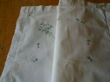 More details for vintage hand embroidered pure cotton cushion cover - oxford style