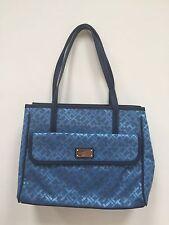 •Tommy Hilfiger Blue Canvas Small Ladies Handbag Tote Shopping
