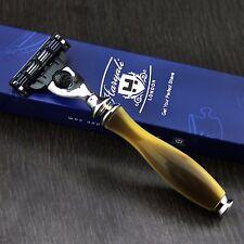 GILLETTE Mach 3 rasoio compatibile manico di corno REPLICA | Uomo | Da Barba Essentials