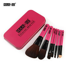 MAANGE 7pcs Makeup Brush Foundation Eyeshadow Eyeliner Cosmetic Set With Box