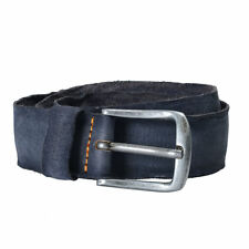 Hugo Boss Orange Men's Suede Distressed Handmade Gray Buckle Belt US 34 IT 90