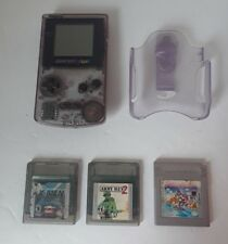 Nintendo Gameboy Color Atomic Purple w/Games Super Mario Land_X-Men_Army Men 2