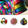 50yards Double Sided Rainbow Grosgrain Ribbon Gift Wrap Crafts Various Size