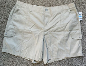 NWT Style & Co Plus Size Above-Knee Cotton Blend Cargo Shorts 20W Macy's