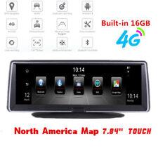 "7.84"" Touch IPS 4G ADAS GPS Navigator FHD Car DVR Dashboard Recorder BT WIFI FM"