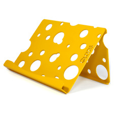 Glozis Gift Steel Universal Table Desktop Holder Stand for tablet Cheese Yellow