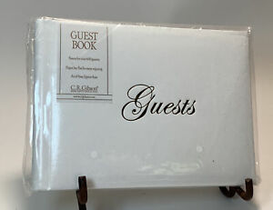 """C.R. Gibson White Guest Book Space for Over 600 Signatures 5.5"""" x 8"""" - NIP"""
