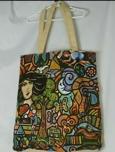 True Religion Artsy Canvas Tote Bag