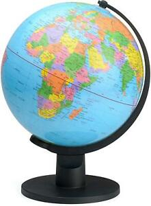 Educational World Globe with Swivel Stand 25cm Geography Learning