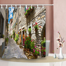 Characteristics Alley Of The Building Waterproof Bathroom Decor Shower Curtain